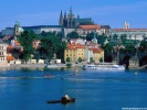 View from the river Prague, Czech Republic wallpaper