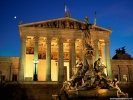 Pallas Athene Fountain, Parliament Building Vienna, Austria wallpaper